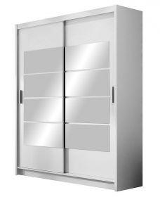 Šatní skříň VANCOUVER bílá zrcadlo