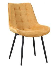 Jídelní židle TRIX žlutý velvet
