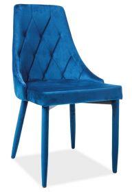 Jídelní čalouněná židle TRIX VELVET II modrá