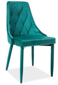 Jídelní čalouněná židle TRIX VELVET II zelená