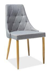 Jídelní čalouněná židle TRIX II šedá/dub