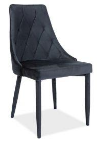 Jídelní čalouněná židle TRIX velvet černá/černá