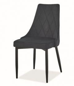 Jídelní čalouněná židle TRIX B velvet černá/černá