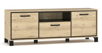 Televizní stolek 2D1S BUCKET dub artisan/wenge