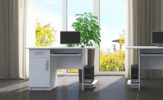 Pracovní stůl VIBER 1D1S bílá levý