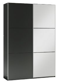 Šatní skříň VALERIANO 120 černá/černá