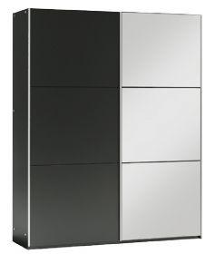 Šatní skříň VIGO 150 černá/černá