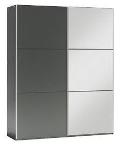 Šatní skříň VALERIANO 150 grafit/grafit