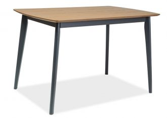 Jídelní stůl VITRO 120 dub/grafit