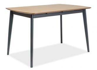 Jídelní stůl rozkládací VITRO II 120-160 dub/grafit