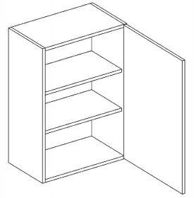 W45 horní skříňka jednodveřová pravá PAULA šedá/mat. šedá
