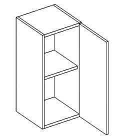 W30P horní skříňka jednodvéřová PREMIUM hruška