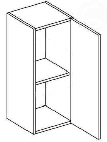 W30P horní skříňka jednodvéřová NORA de LUX hruška