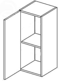 W30L horní skříňka jednodvéřová MERLIN