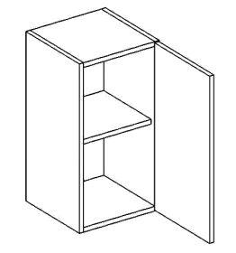 W40P horní skříňka jednodvéřová PREMIUM olše