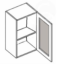 W40WP horní vitrína jednodvéřová MERLIN mraž. sklo
