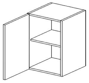 W60L horní skříňka jednodvéřová PREMIUM hruška