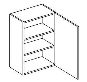 W60 horní skříňka jednodvéřová BIANCA pravá
