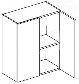 W60 horní skříňka dvojdvéřová NORA de LUX hruška