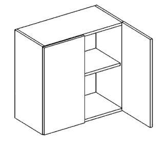 W60 horní skříňka dvoudvéřová NORA hruška