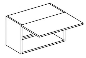 W60OKGR skříňka nad digestoř LATTE BIS