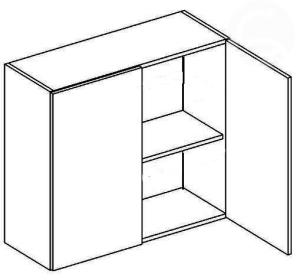 W80 horní skříňka dvoudvéřová NORA de LUX hruška