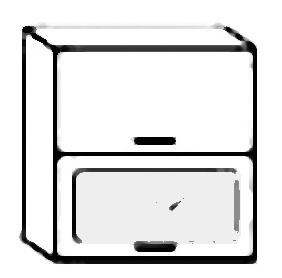 W80SP horní skříňka výklopná MERLIN