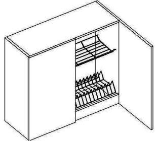 W80SU horní skříňka s odkapávačem NORA de LUX hruška