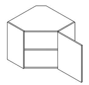 WR/58 horní skříňka rohová MORENO sonoma