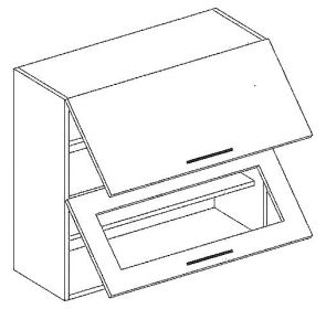 W80SP horní skříňka výklopná MERCURY Zebra