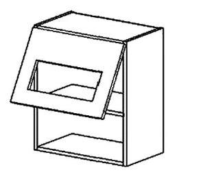 WS50/58 PD horní vitrína výklopná jednodveřová MORENO sonoma