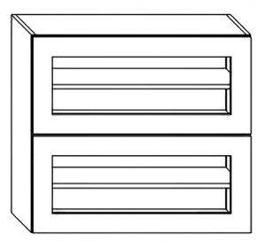 WS80GRF2 horní dvojitá výklopná vitrína BIANCA