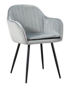 Jídelní židle YENEFER šedý velvet