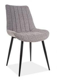 Jídelní čalouněná židle ZOOM šedá/černá mat