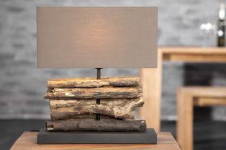 Stolní lampa PERIFERE BROWN 40 CM naplavené dříví