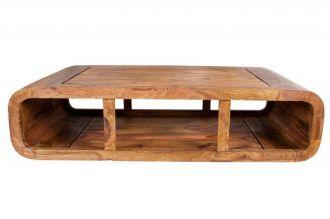 Konferenční stolek CURVED 100 CM masiv sheesham