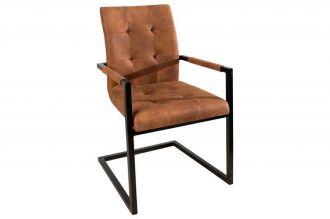 židle OXFORD BROWN s područkou