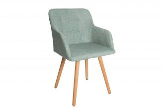 Židle ARMREST zelená strukturovaná látka