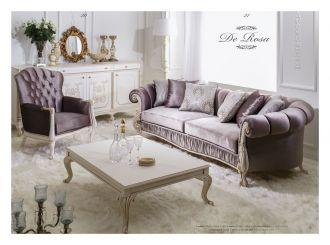 luxusní sedací souprava 3 SET DE ROSA LUXUS