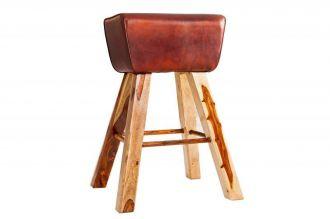 Barová židle BOCK pravá kůže