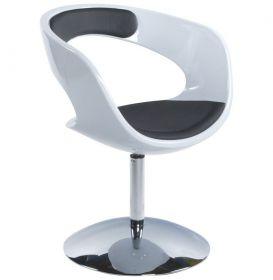 židle KIRK BLACK WHITE