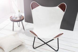 židlo-křeslo BUTTERFLY WHITE