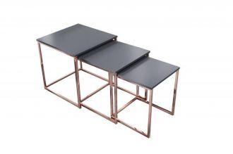 3SET konferenční-odkládací stolek FUSION BLACK COOPER