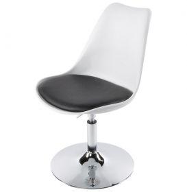 židle NASSAU WHITE BLACK