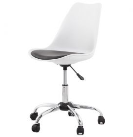 kancelářská židle ENIR WHITE BLACK