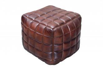 kožený taburet TAURUS BROWN