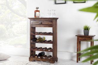 vinotéka HEMINGWAY na 16 láhví, masiv mahagon