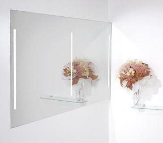 luxusní zrcadlo DUO LUMINA WHITE 140/70 s osvětlením