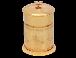 luxusní koš PAPILLON GOLD s potahem 24 kt zlata