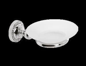 luxusní miska na mýdlo ALMARA SILVER, krystaly